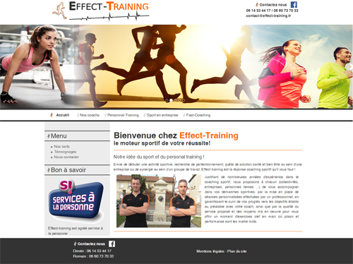 Site coaching sportif Effect Training